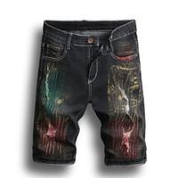 bordado nuevo denim al por mayor-Nuevo 2019 Hombres Pantalones de mezclilla Pantalones cortos bordados Pantalones de moda Pantalones PHILIPP PLEIN DSQUARED2 DSQ2 D2