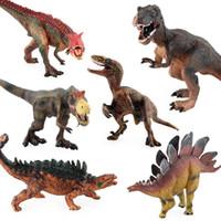 Wholesale hot selling diy toys for sale - Group buy Hot Selling Dinosaur Model Ornaments Solid Model Plastic Static Dinosaur Toy Model Kl