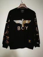 junge london pullover männer groihandel-Cotton Boy London Mens Hoodies und Sweatshirts Marke Langarm Sportwear Kleidung Winter Herbst Dünne Mantel Mode Schwarz Sweatshirt Männer