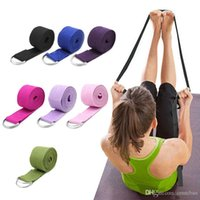 Wholesale d ring straps resale online - Women Yoga Stretch Strap Multi Colors D Ring Belt Fitness Exercise Gym Rope Figure Waist Leg Resistance Fitness Bands Yoga Belt