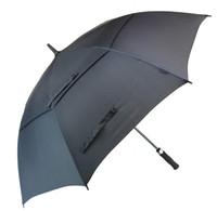 ingrosso ombrelloni aperti automatici-Ombrello da golf da 62 pollici per uomo Ombrello da vento automatico aperto da vento Extra Large Double Canopy Vented Waterproof Stick