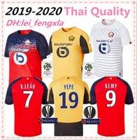üst kulüp forması toptan satış-2019 2020Thailand OSC Lille futbol formaları Lille Olympique Sporting Club futbol forması PEPE REMY BAMBA R. LEAO Ikone maillot de ayak üstleri