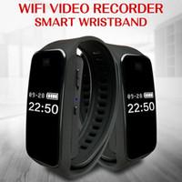 pulseira pulseira relógio led venda por atacado-WIFI Inteligente Wristband câmera HD 720 P Smartband Mini Câmera de Tela LED Bracelet Watch Digital voice Gravador de Vídeo câmera de Esportes