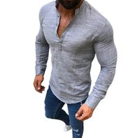 7c1d090667c HEFLASHOR 2019 New Cotton Linen Shirts Men Long Sleeve Summer Fashion  Hawaiian Shirts Sexy Slim Fit Men Clothes Plus Size 3XL