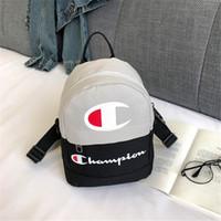 Wholesale ipad mini travel for sale - Group buy Women Champions Letter Backpack Mini Shoulder Bag Sports Travel Crossbody Waist bag Fanny Packs Rucksack Letter Print Bag C3194