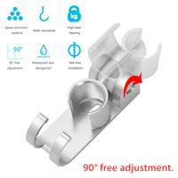 wandhalter aluminium großhandel-1 STÜCK Ständer Halterung Dusche Hörerkopf Einstellbare Wand Duschkopf Halter Home Bad Zubehör