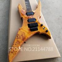top rich achat en gros de-Usine personnalisé Top qualité 6 cordes riche guitare électrique avec oeil peuplier haut musical instument magasin