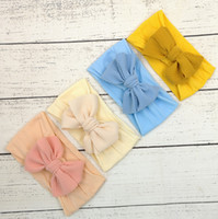 Wholesale girls kids bandanas head bands for sale - Group buy Kids Girl Stretch Turban Knot Headband Toddler Baby Girl Big Bow Knot HairBand Solid Headwear Head Wrap Hair Band Accessories