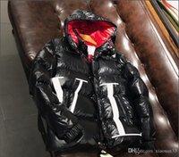 abrigos gruesos para hombre al por mayor-18ss 90 Blanco Ganso Abajo Abrigos gruesos de abrigo Chaqueta de plumón de estrella Hombre Hombre Abrigo de invierno Chaquetas Parkas