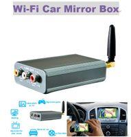 android para pantalla de coche al por mayor-Hot For ios12 Car Mirror Link WIFI Car Mirror Box para Android iOS Teléfono Audio Miracast DLNA Airplay Wi-Fi Espejo de pantalla inteligente