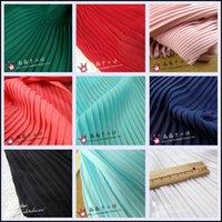 mehrfarbiges chiffongewebe großhandel-1psc multi-color plissee chiffon stoff plissee stoff einfarbig für orgel kleid rock zerkleinert (plissee 0,5 mt)