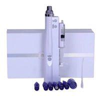 мезотерапия иглой для домашнего использования оптовых-Бесплатная доставка дома и салона использовать электрический Microneedling авто мезотерапия инъекционный пистолет нано иглы дермы ручка