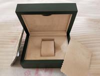 сумка бесплатно оптовых-Бесплатная доставка завод поставщик зеленый часы оригинальный футляр бумаги карты кошелек подарочные коробки сумки 185 мм * 134 мм * 84 мм 116610 116660 116710 часы