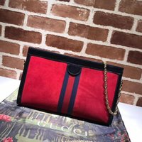 Wholesale deerskin leather bags for sale - Group buy Top Quality Design Letter Ribbon Metal Buckle Shoulder Chain Bag Deerskin Leather Woman Messenger Bag