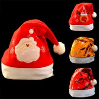 Wholesale christmas decoratives for sale - Group buy Christmas Hat Adult Child Cute Santa Claus Caps Xmas Holiday Party Decoratives Supplies
