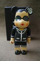 brinquedos de boneca de filme de aranha venda por atacado-Venda quente 11 polegadas 400% bearbrick luxo Lady CH ser @ rbrick Moda brinquedo Medicom Brinquedos com caixa de varejo