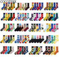 Wholesale pairs christmas socks resale online - 5 Pairs Brand Men Socks Cotton British Style Street Wear Designer Happy Socks Autumn Winter Funny Suit Christmas Gift Bag