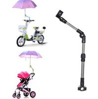 verstellbare ständer großhandel-Einstellbare Fahrrad Schirmhalter Halterung Ständer Rollstuhl Kinderwagen Stuhl Schirmstange Stretch Ständer Unterstützung KKA6380