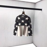 ingrosso modelli stella a maglia-signore allentate maglione a righe da uomo maglione stelle maglia calda lettera di stampa modelli paio selvatici che basa la camicia marea di marca 2019 nuovo Q16