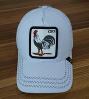 Wholesale army style caps for sale - Group buy custom baseball cap with hip hop street fashion personality high quality fashion style animal rooster hat A minimum of