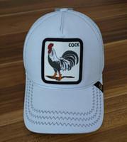 gorras estilo hip hop al por mayor-gorra de béisbol personalizado con personalidad de la moda calle de hip-hop de alta calidad estilo de la moda de los animales gallo sombrero de un mínimo de 100