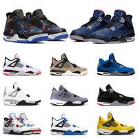 baloncesto violeta zapatillas deportivas al por mayor-Los nuevos Mens zapatillas de baloncesto 4 Rush azul violeta Leal algo cabron gris pálido CIDRA 4s RAPTOR tamaño de los deportes atléticos de las zapatillas de deporte 7-13