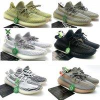 calcinha sapatos chinelo venda por atacado-Adidas Yeezy 350 V2 slipper air jordan boost supreme off white asics vans basketball designer shoes platform antlia beluga zebra breds v2 Kanye West tênis, recibo, meias A01