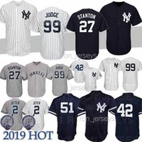 Wholesale 25 soccer jersey resale online - Yankees jersey Aaron Judge jersey GLEYBER TORRES Jeter York GS Ruth Mariano Rivera Mantle baseball jerseys