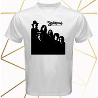 weiße schlangenband großhandel-White Snake Band Ready Williges Album Cover Herren Weißes T-Shirt Größe S-3XL