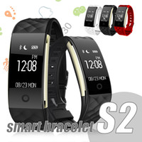 Wholesale s2 bluetooth for sale – best S2 Smart Bracelet Bluetooth Smartwatches Fitness Tracker for iPhone Android Cellphone IP67 Waterproof Heart Rate Monitor Steel Strap