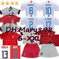 jerseys de fútbol unidos al por mayor-Calidad tailandesa 2019 2020 EE. UU. 4 estrellas PULISIC Soccer Jersey 2019 DEMPSEY Morgan RAPINOE LLOYD ERTZ Camisetas de fútbol de Estados Unidos Estados Unidos S-XXL