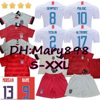 camisas de futebol de qualidade eua venda por atacado-Qualidade tailandesa 2019 2020 USA 4 estrelas PULISIC Jersey 2019 DEMPSEY Morgan RAPINOE LLOYD ERTZ America Camisolas de futebol Estados Unidos S-XXL
