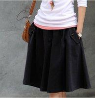 envío gratis para ropa femenina. al por mayor-Falda 2019 Plus Tamaño Ropa ocasional más el tamaño que envía la falda femenina Medio Largo Mujeres Faldas gratuito