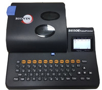 máquina de etiquetado de tubos al por mayor-BIOVIN Máquina eléctrica de etiquetado de cables, impresora de número de cable Impresora de tubo S650E