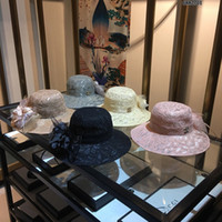 Wholesale flat summer straw hat resale online - Straw Weaving Fisherman Cap Ladies Wide Foldable Travel Sun Hat Summer Beach Visor Czapka