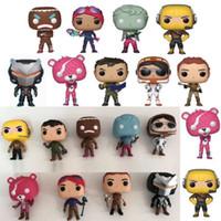 ingrosso nuovi oggetti in plastica-9 Stili / SET POP Bambola di plastica New Kids 10cm Cartoon Game Llama Pink Bear Action Figure Toy Novità