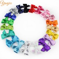 Wholesale beauty full sexy girl for sale - Group buy bow accessories New Arrival colors Boutique Knot Applique quot Sequin Bow Girl Beauty Bows Accessories Headwear Hair Clip