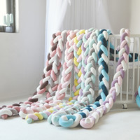 Wholesale beds cot for sale - Group buy LOOZYKIT Baby Bumper Bed Braid Knot Pillow Cushion Bumper For Infant Baby Crib Protector Cot Room Decoration Bedding