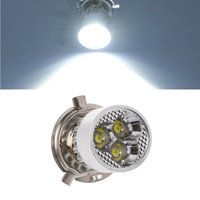 führte motorrad glühbirnen großhandel-DC 12-80 V H4 3 LED Motorrad Scheinwerferlampe Hallo / Lo Roller Lampe ATV Nebelscheinwerfer