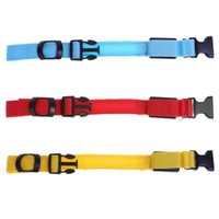Wholesale night lights for dog collars resale online - LED Dog Collar Flashing Adjustable Pet Safety Night Light Collars Anti Lost Avoid Car Accident Collar For Dogs Puppies Dog Lead