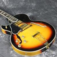 guitarra zurda cuerpo hueco al por mayor-Envío gratis mano izquierda Custom Shop Byrdland Hollow Body Guitarra eléctrica Gold Hardware Grover