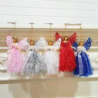 ingrosso angeli di plastica-Angelo di Natale appesi albero di Natale di plastica Angelo ornamenti Home negozio per Finestra del regalo del giocattolo di natale Hanging