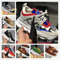 Wholesale casual men bags online - CHAIN REACTION Love sneaker women men red black ght weight chain linked designer sport fashion Casual Shoes With Dust Bag