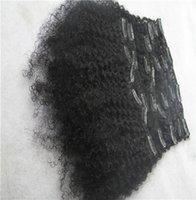 6a brazilian bakire kinky kıvırcık saç toptan satış-Saf Renk 100% İnsan Saç Dokuma 10-30 Inç Sapıkça Kıvırcık Klip Ins Brezilyalı 9 Adet / grup Saç Dokuma 6a Işlenmemiş Bakire Saç Uzantıları