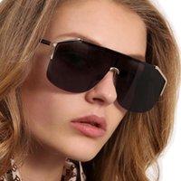 neue art sonnenbrille großhandel-New Half Metal Frame Designer gg Sonnenbrille Damenmode One Piece Sonnenbrille Cool Goggles Unisex Style 6 Farben