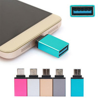 colorful Type-C OTG Adapter Type C Converter for Samsung Huawei HTC OTG Adapter