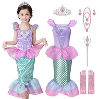 Wholesale kids beach outfits for sale - Group buy VOGUEON Girls Little Mermaid Princess Dress Up Children Summer Ariel Fancy Costume Clothes Kids Scale Beach Party Outfit Clothes