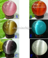 Wholesale cheap Multicolor CAT S EYE LIKE CRYSTAL SPHERE BALL MM colors free Select Red White Purple Green Blue