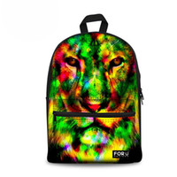 Wholesale cool kids backpacks for school for sale - Group buy Fashion Kids Backpack Animal Lion Print Children Backpack for Girls Cool Woman School Rucksack Casual Daypack High Quality