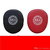 Wholesale shock gear resale online - Gym Boxing Mitt Hand Target Thai Boxing Taekwondo Trainer Shock Absorption Foot Targets Fitness Protective Gear bt Ww